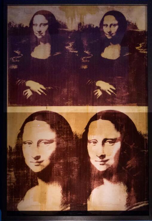 《安迪·沃霍尔签名的蒙娜丽莎》(一组四幅)