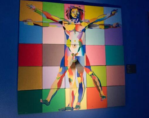 《维特鲁威人》 布面油画 1996