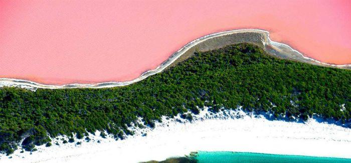 粉红湖与少女心