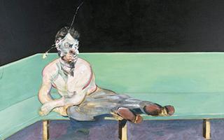培根杰作《弗洛伊德肖像画写生》首次展出