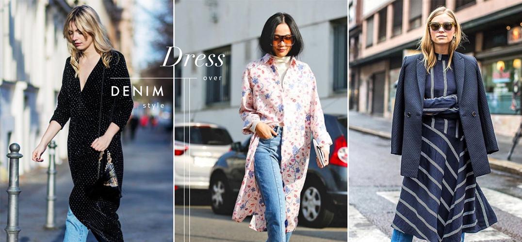 让春夏裙装在冬日时尚起来