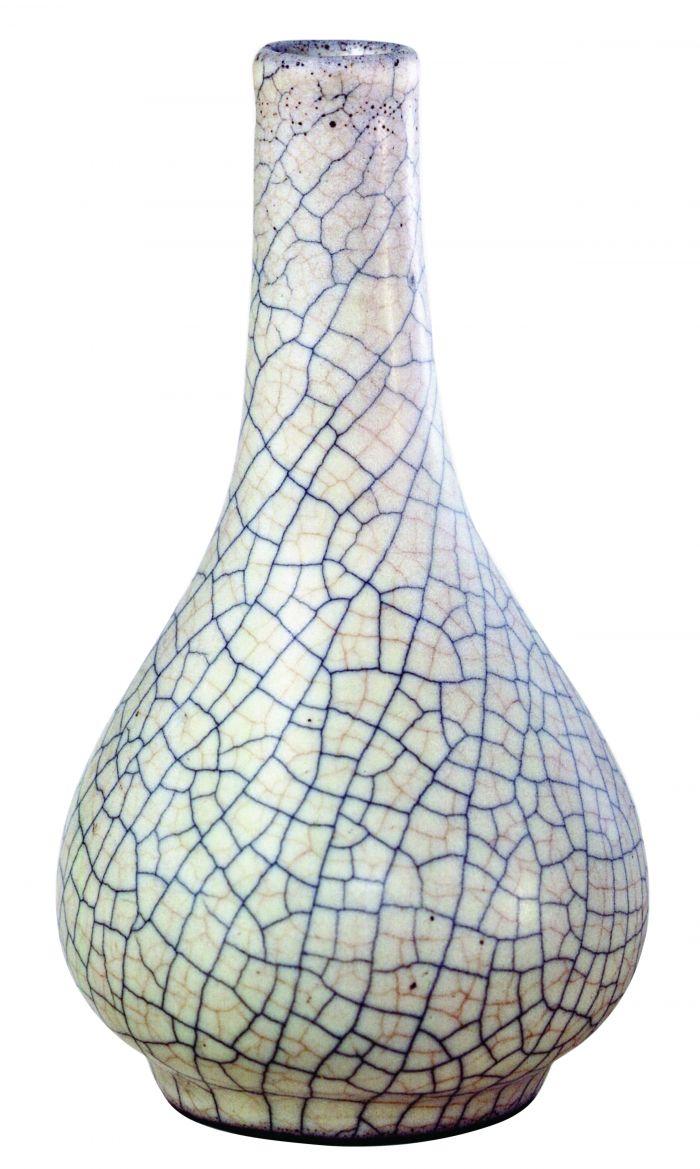 哥窑灰青釉胆式瓶2