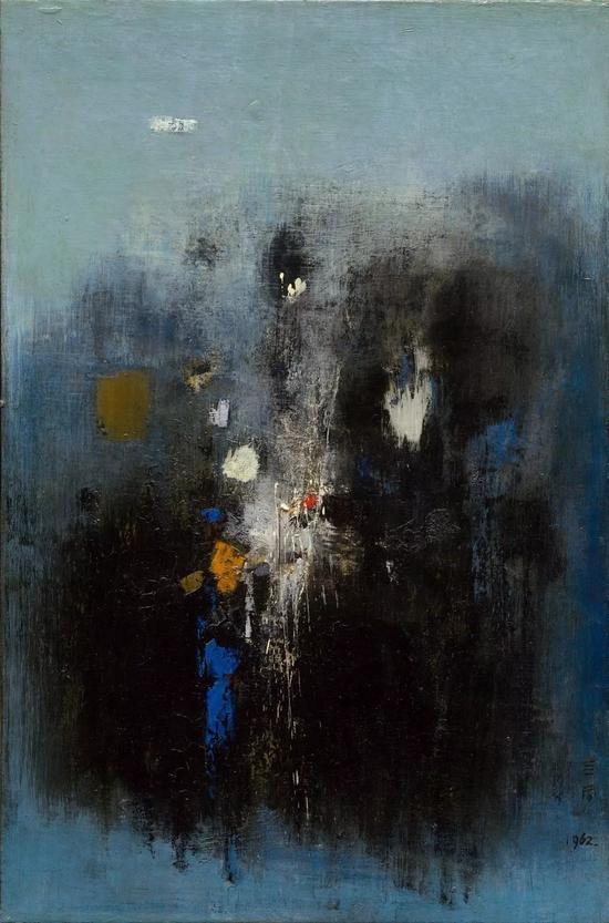 钟泗滨,《虚空》,油彩画布,91×60.3cm,1962。图片:致谢亚洲艺术中心