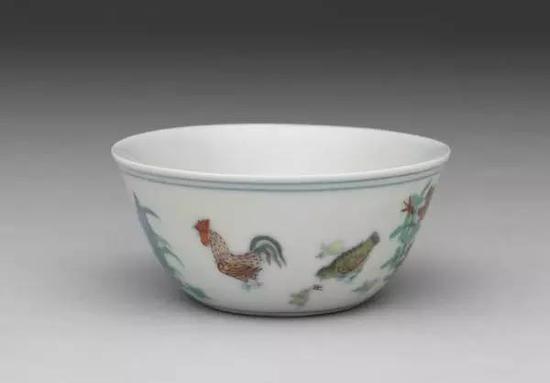明 成化窑 斗彩鸡缸杯