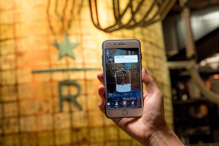 """09_顾客登录""""线上工坊""""的AR扫描功能开启上海烘焙工坊咖啡沉浸之旅"""