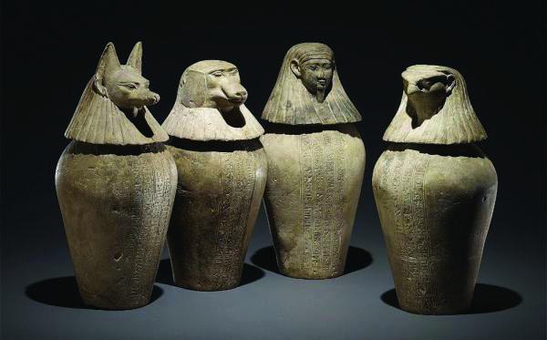 卡诺卜坛容器 用于保存木乃伊的器官