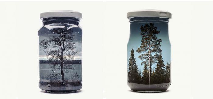 玻璃糖罐里的童趣