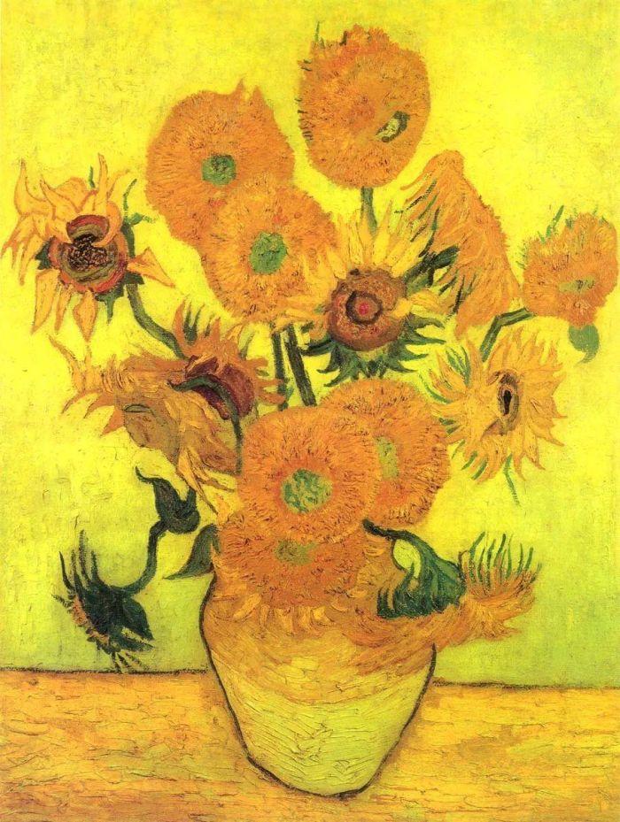 艺术家  「向日葵」 在奥赛博物馆看梵高真迹时,你会被层层叠叠的铬