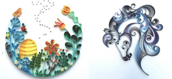 纸张与花朵