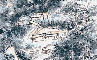 浑厚华滋的山城青色图