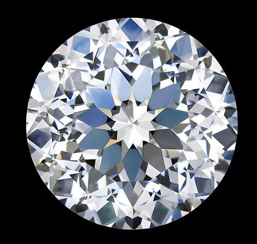 """""""LOVE100""""钻石切工示意图及实物图"""
