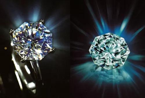 """""""蓝色火焰""""钻石切工实物图"""