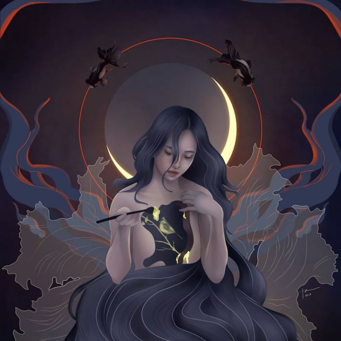 mythical-goddess-illustrations-katrina-taule-1