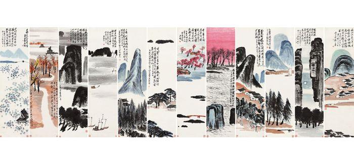 9.315亿!齐白石《山水十二条屏》成最贵中国艺术品