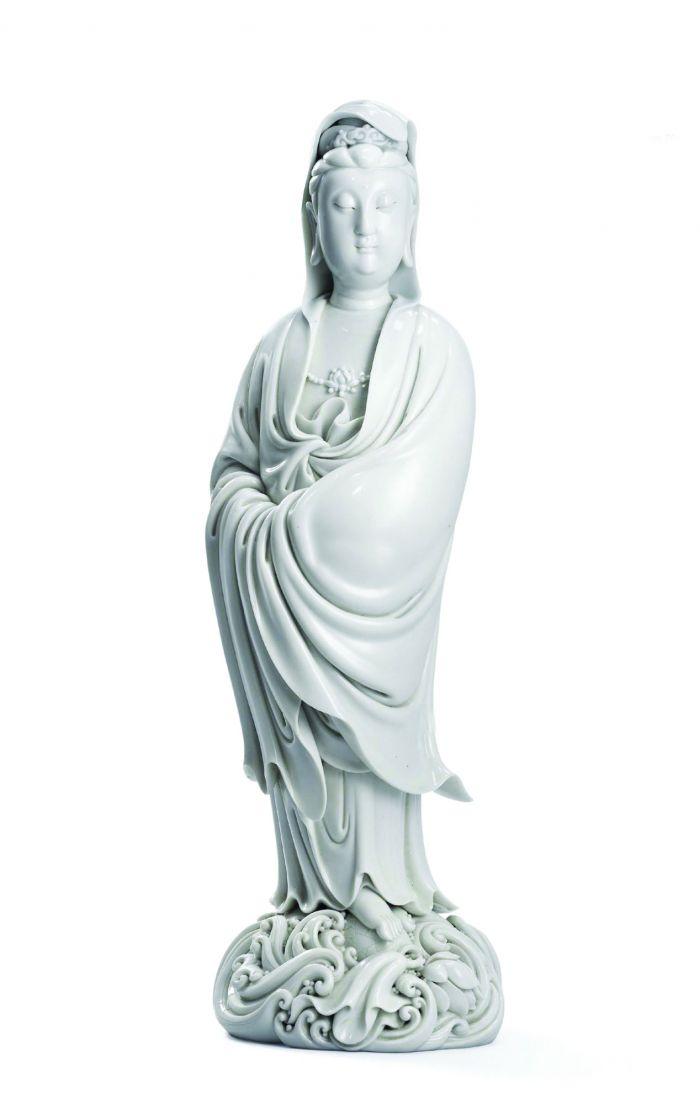 明16世纪;17世纪 德化白釉渡海观音立像
