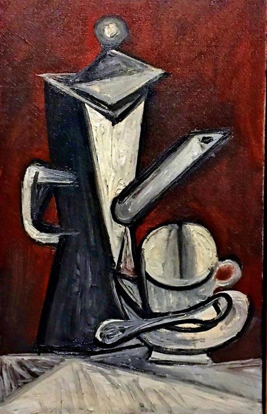 西班牙艺术大师毕加索的《咖啡壶》(The Coffee Pot)