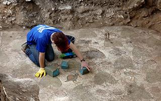 以色列文物管理局发现拜占庭时代马赛克地板