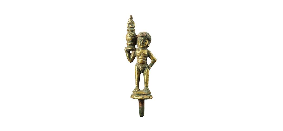 精巧的唐铜鎏金昆仑奴造像