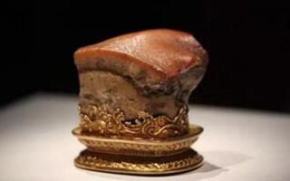 """寓意""""年年有肉食""""的极品肉形石"""