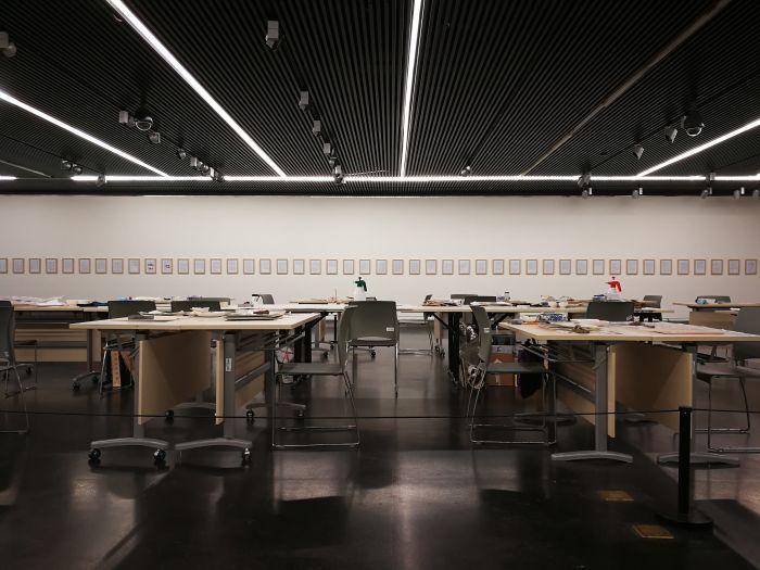 2 水印版画作品文献展,文献展单元现场
