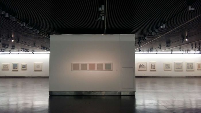 8 水印版画作品文献展,作品展单元现场