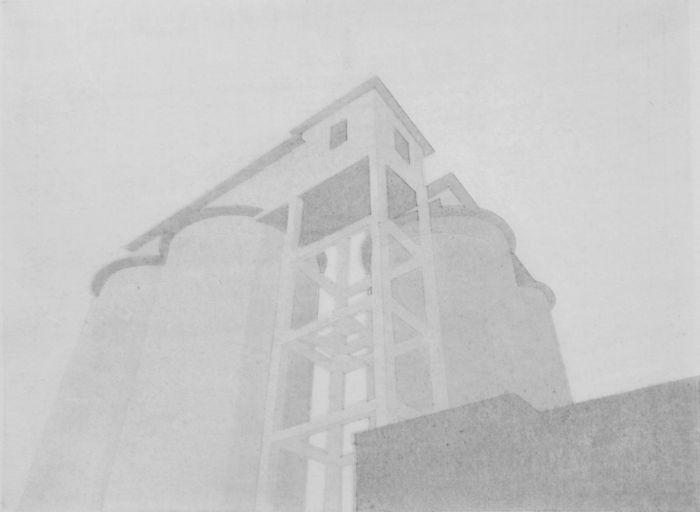 沙红波 《遗弃的厂房之四》 30X40cm 水印版画 2017