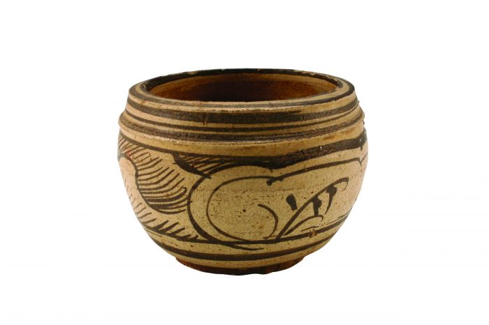 图2 南宋吉州窑白地褐彩小罐