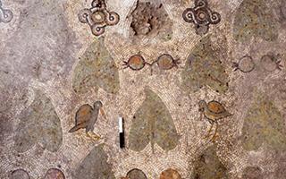 四世纪教堂的马赛克地板 以色列考古新发现