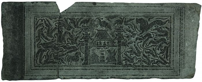 图4元嘉三年对弈图画像石