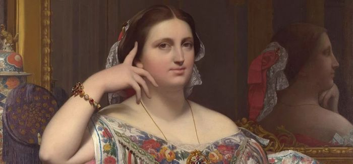 安格尔的女性肖像画