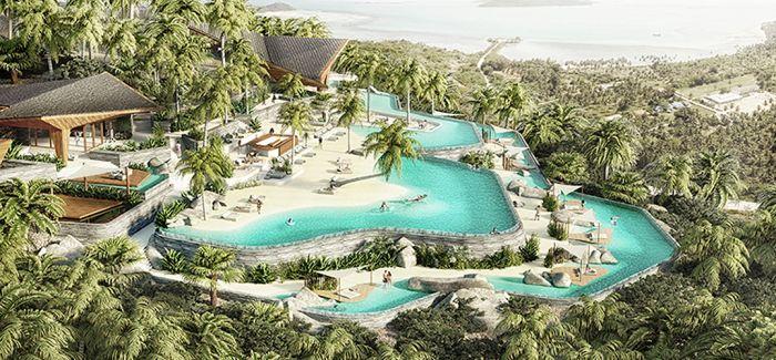 苏梅岛酒店:将海滩景观融入到山地之中