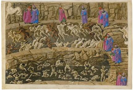 《神曲》地狱篇 第18歌,淫荡与谄媚,波提切利绘