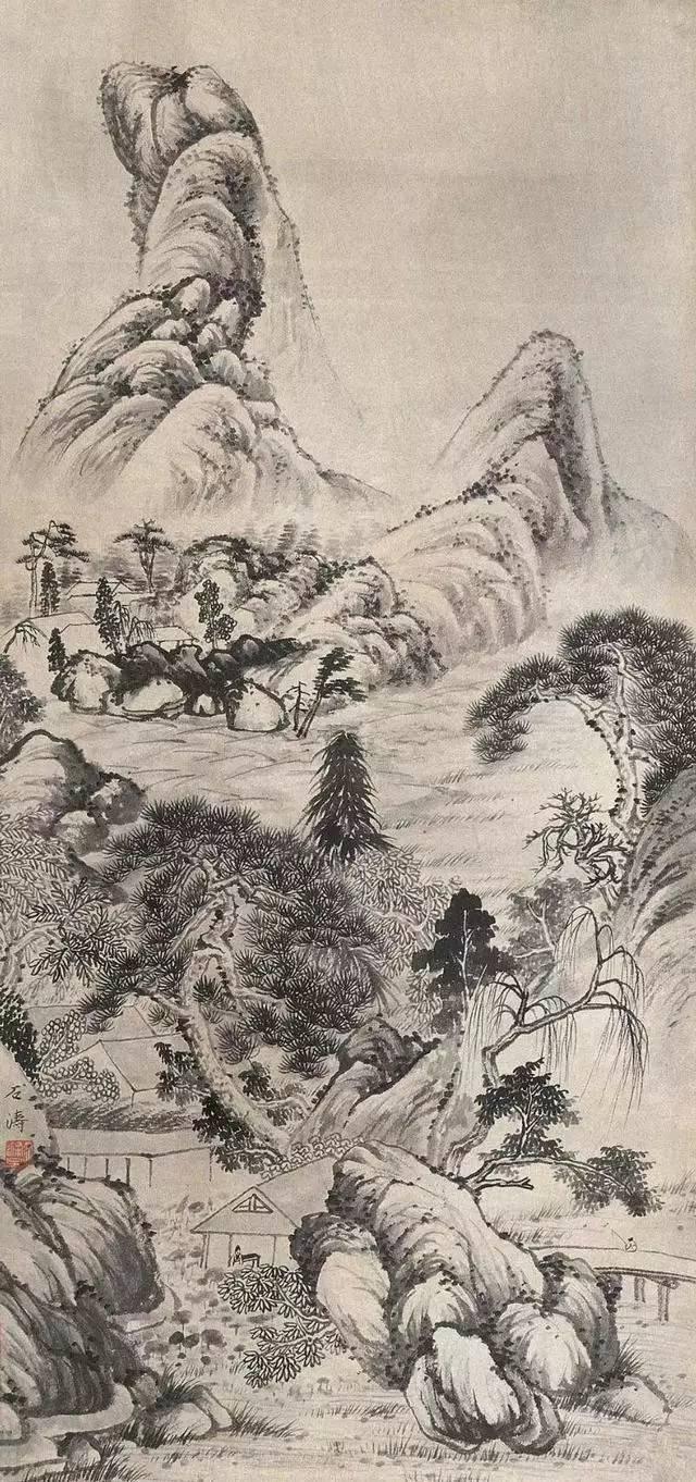 山水帛_格法多变的石涛山水画_书画_投资收藏_凤凰艺术