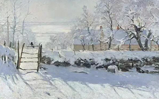 清纯又浪漫的雪景画
