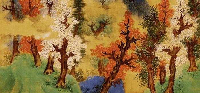 白云红树 画佳境