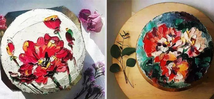 当蛋糕遇上油画 这还叫人怎么吃