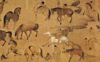中国绘画作品中的马