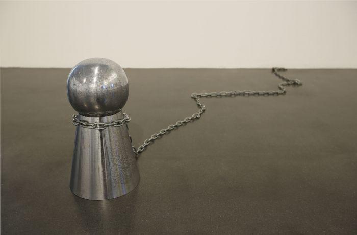 中村政人,禁止停车/钥匙孔形状01,1993年,钢铁