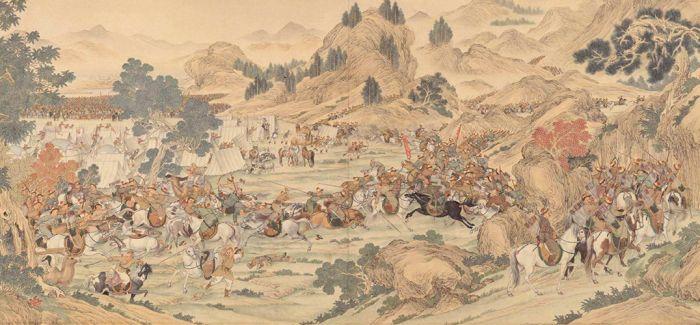 郎世宁画的这副画把乾隆的高贵烘托到了云端