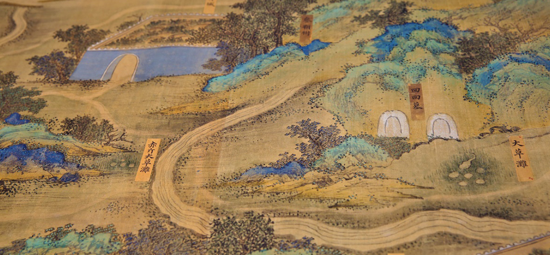 国宝《丝路山水地图》 春晚回归
