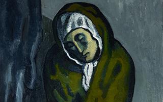 毕加索早期作品《蜷坐的乞丐》里的秘密