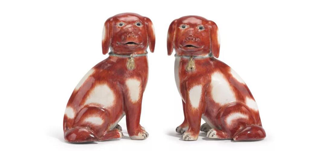 清乾隆外销猎犬瓷像亮相佳士得