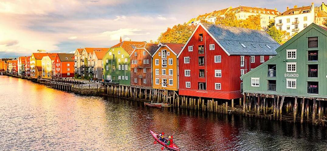 在挪威的小木屋里 住着很多快乐的人......