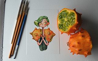 当水果遇上插画