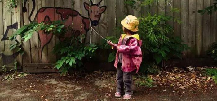 绘画与自然结合的街景艺术