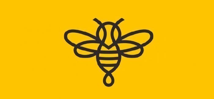 一起来看这些可爱的蜜蜂LOGO!