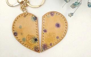 艺境工坊 | 手作课程 · 皮具 心形钥钥匙