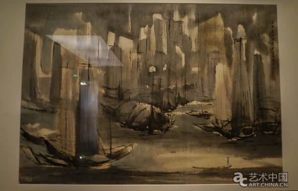 吕寿琨受立体派影响 吕寿琨喜欢写生,展览展出多件吕寿琨对香港风景