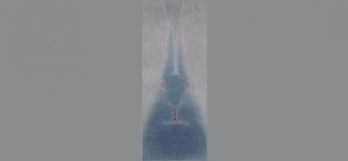 去瑞士 与卢塞恩美术馆的水墨大兔子对视