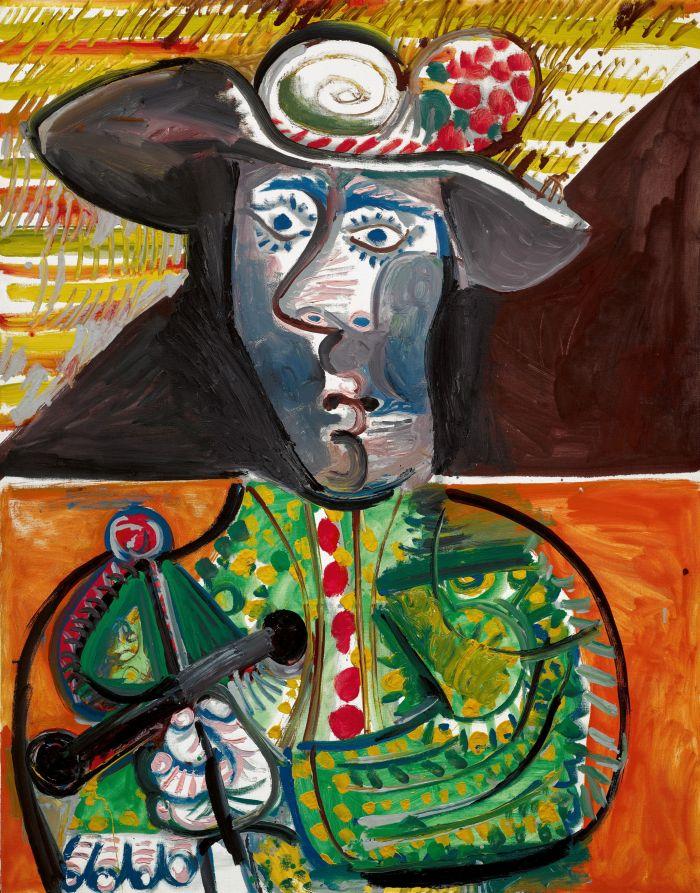 巴布罗·毕加索《斗牛士》原图